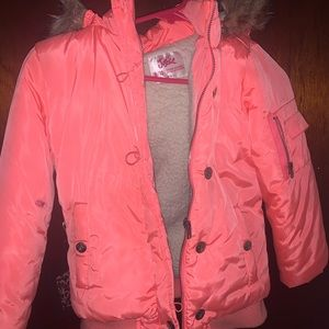 Girls melon color justice winter jacket size 8/10